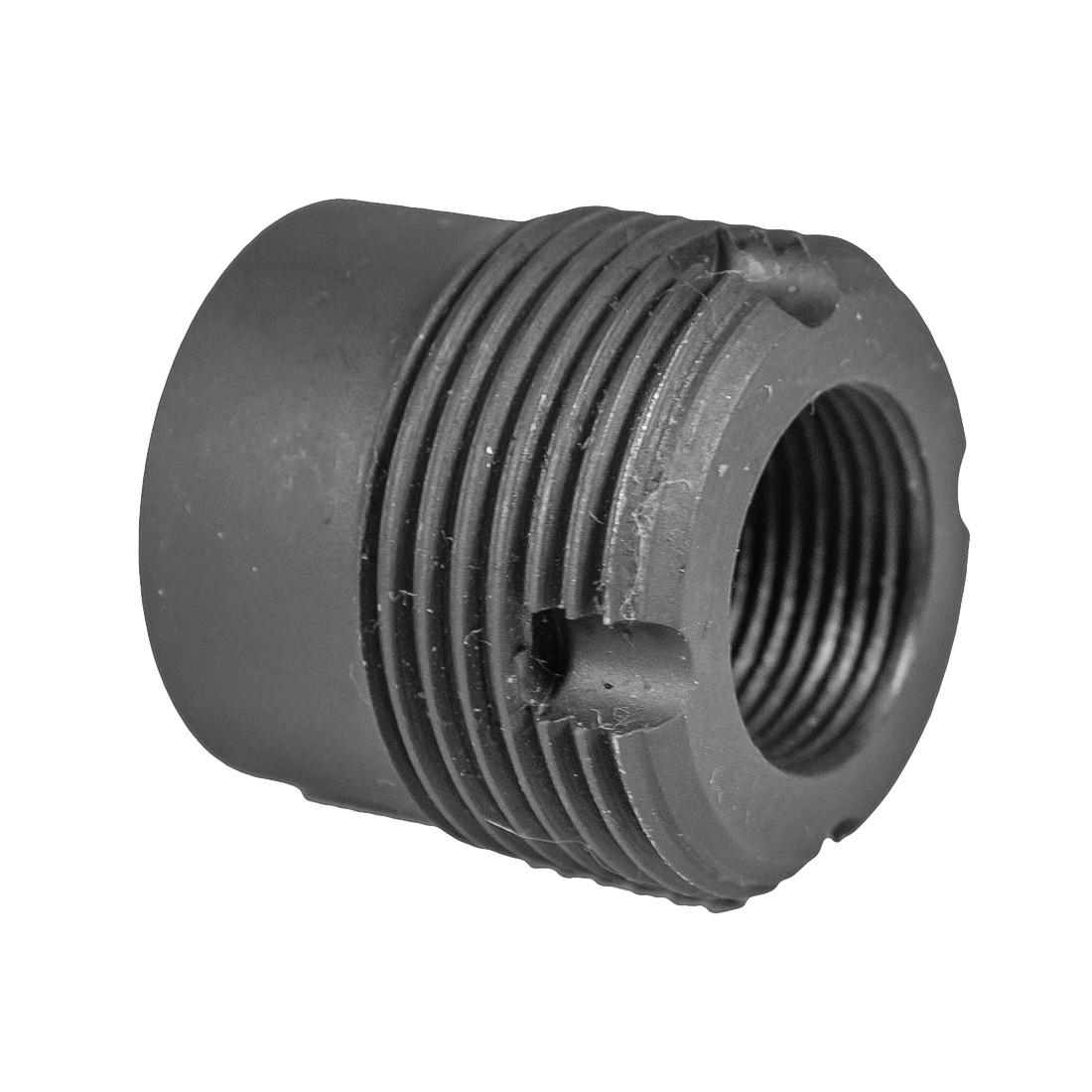 TSS Custom Muzzle Device AK barrel thread adapter 14x1-LH to 24x1-RH