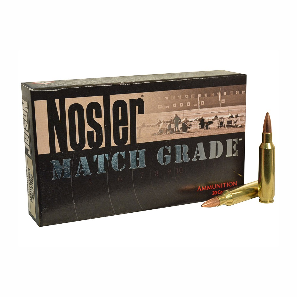 Nosler Match Grade 22 Nosler 77 Grain Custom Competition Hollow Point Box  of 20
