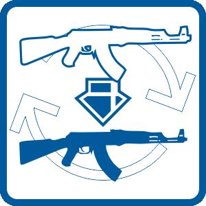 Conversion MINI DRACO AK-47 to TSS Custom MINI DRACO AK-47 pistol