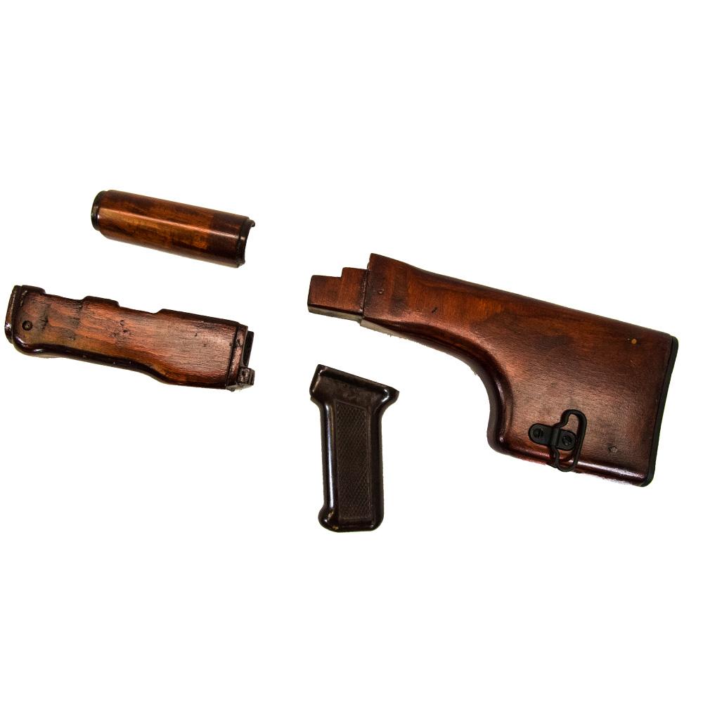 Original RPK Wood stock set ruby red with bakelite grip